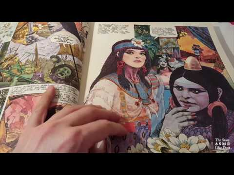 [ASMR ITA+ENG] Book Unboxing #4 - PART 2   Browsing a Comic Book, Whispering, Page Flipping, Tapping