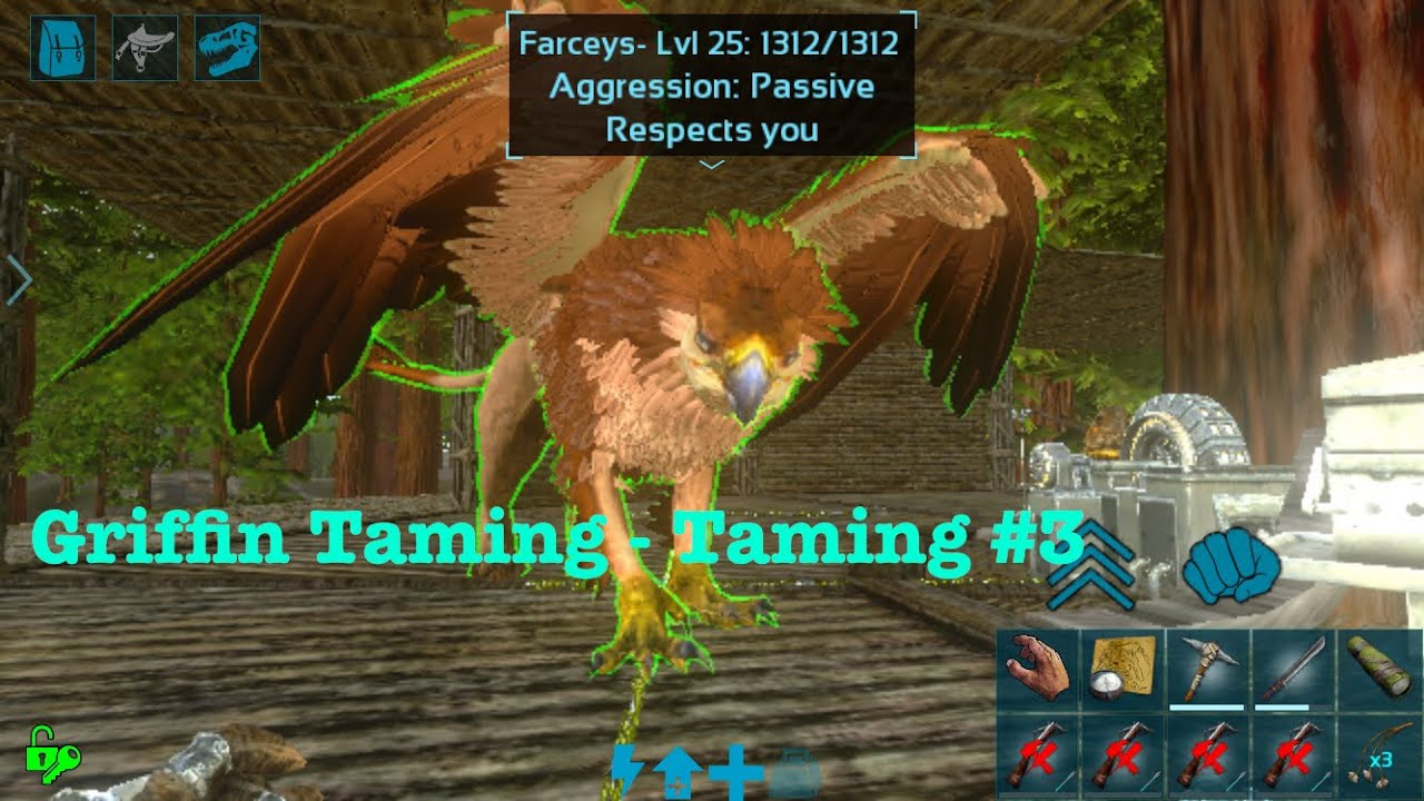 Ark: Survival Evolved Mobile - Griffin Taming Guide - Taming #3