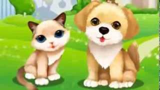 Котенок и щенок - игра для девочек