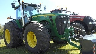 John Deere 8530 w/ Wide Set Of Tires Pulling That Sledge Down The Arena   Tractor Pulling Denmark
