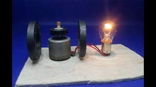 Free energy generator Using magnet with motor - project Science experiment 2018