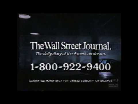 The Wall Street Journal | Television Commercial | 1986