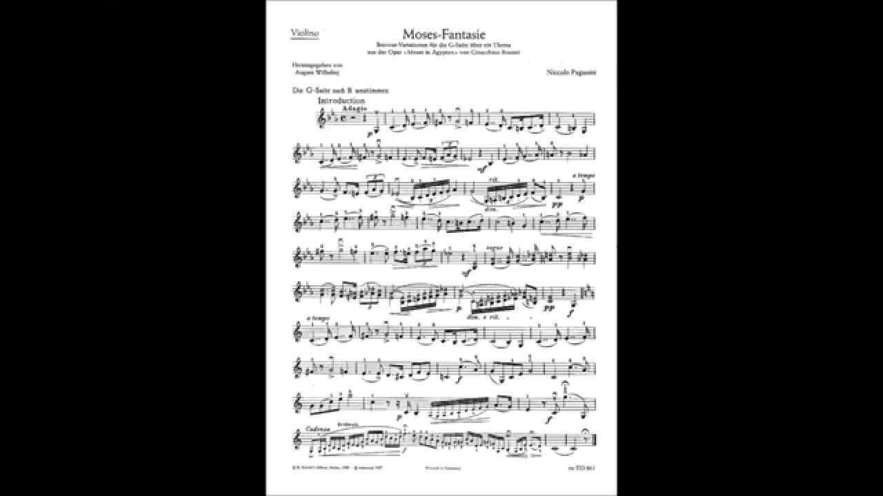 accardo - paganini moses fantasy  sheet music