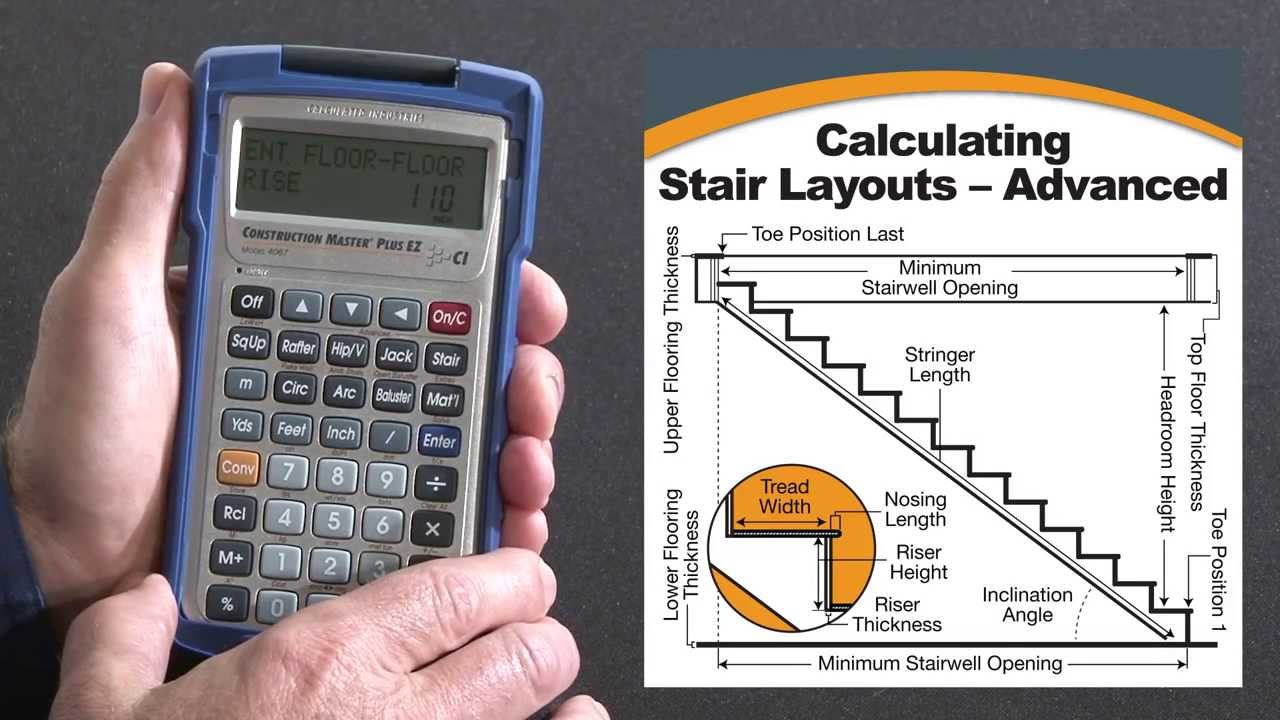 Construction master plus ez advanced stairs how to youtube New construction calculator