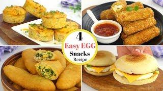 4 Easy Egg Snacks Recipes by Tiffin Box for kids | Egg piroshki, Egg Muffin, Egg Burger, Egg Fingers