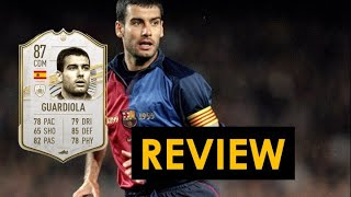 FIFA 21 87 PEP GUARDIOLA MID ICON PLAYER REVIEW