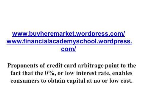 Credit Card Arbitrage Free Money Or Dangerous Gamble