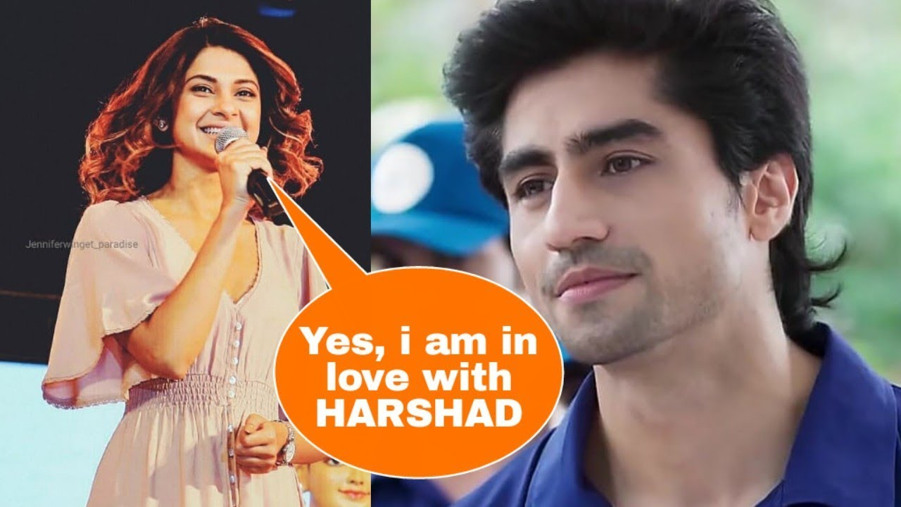 Omg ! JENNIFER WINGET finally admits she is in love with her coactor  Harshad Chopra | New Love Birds