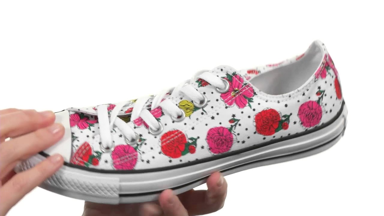 Converse Chuck Taylor® All Star® Floral Polka Dot Print Ox SKU 8473271 9312637ba