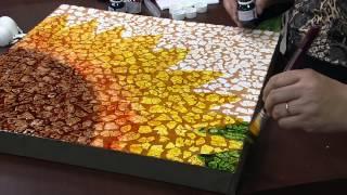 Tela Girassol com Casca de Ovos