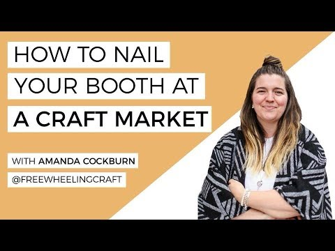 How To Set Up & Market Your Booth At A Craft Show- LIVE with @freewheelingcraft