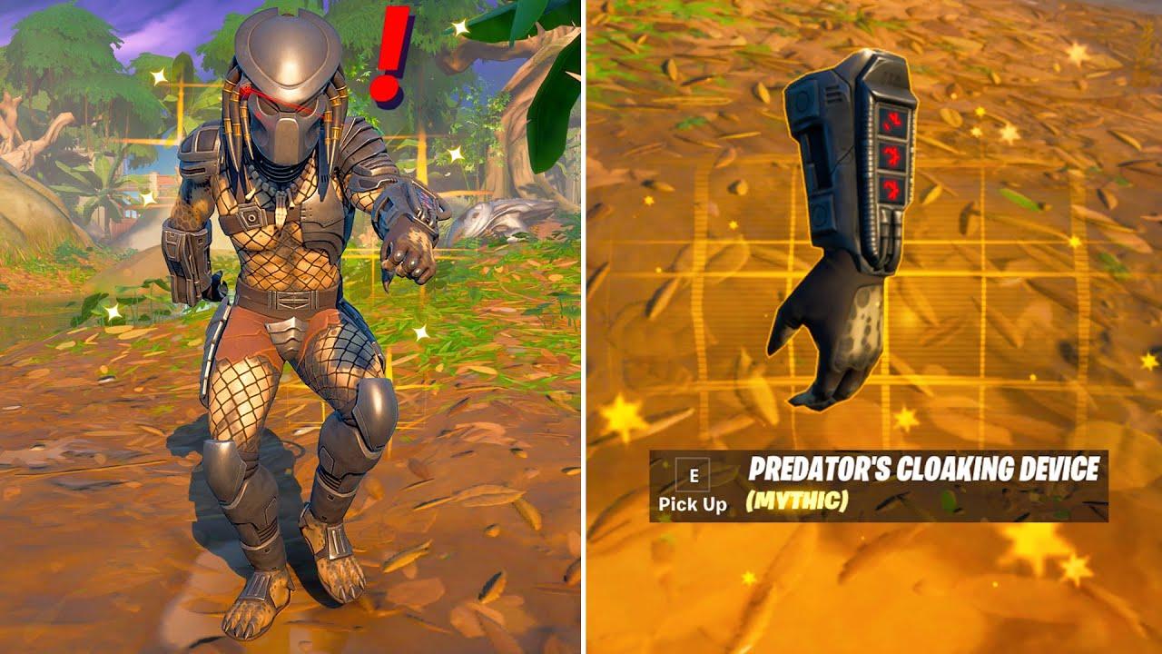 Fortnite Predator Boss & Mythic Weapon Update