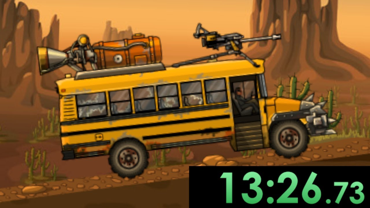 I speedrun upgrading into the ultimate zombie killing machine in Earn To Die 2012