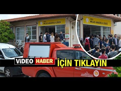 MİLAS ANADOLU LİSESİ'NDE GAZ PANİĞİ...