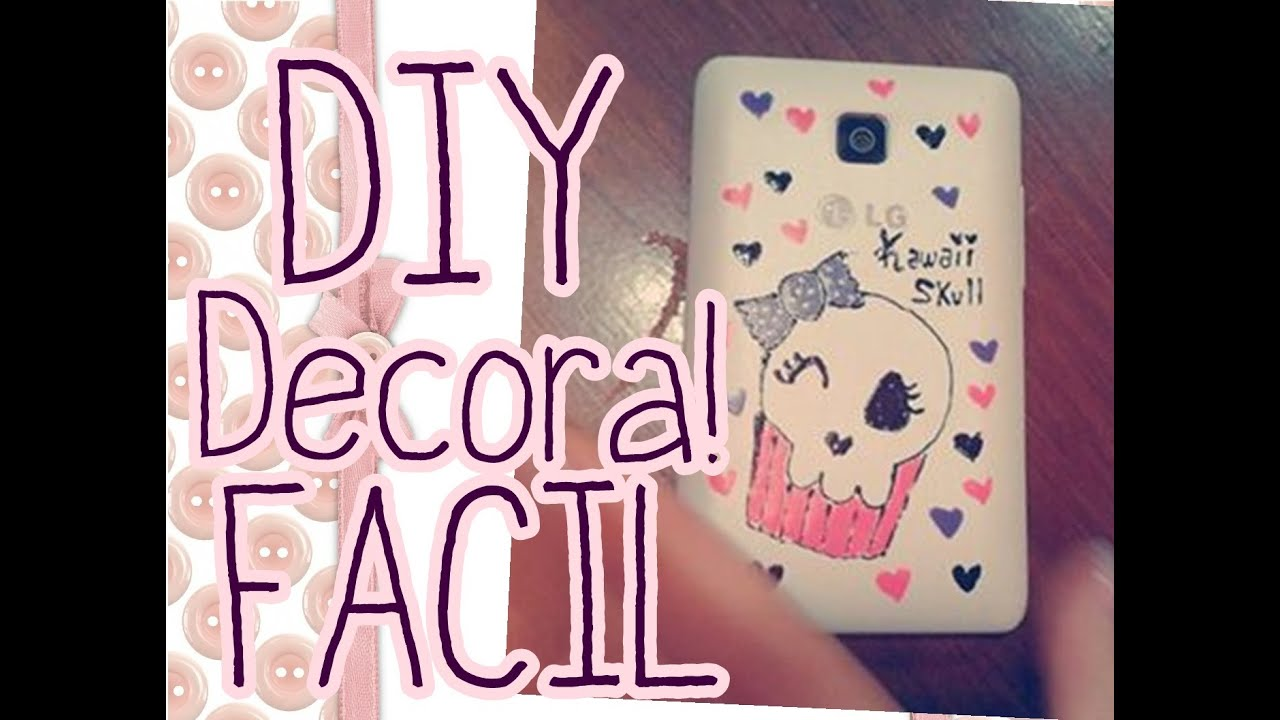 Diy como decorar tu celular muy f cil con esmalte de u as youtube - Como decorar una funda de movil ...