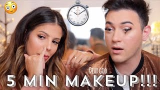 5 MINUTE MAKEUP CHALLENGE WITH LAURA LEE!