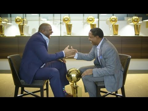 Magic Johnson and Isiah Thomas Interview Between Friends and Former Fierce Competitors