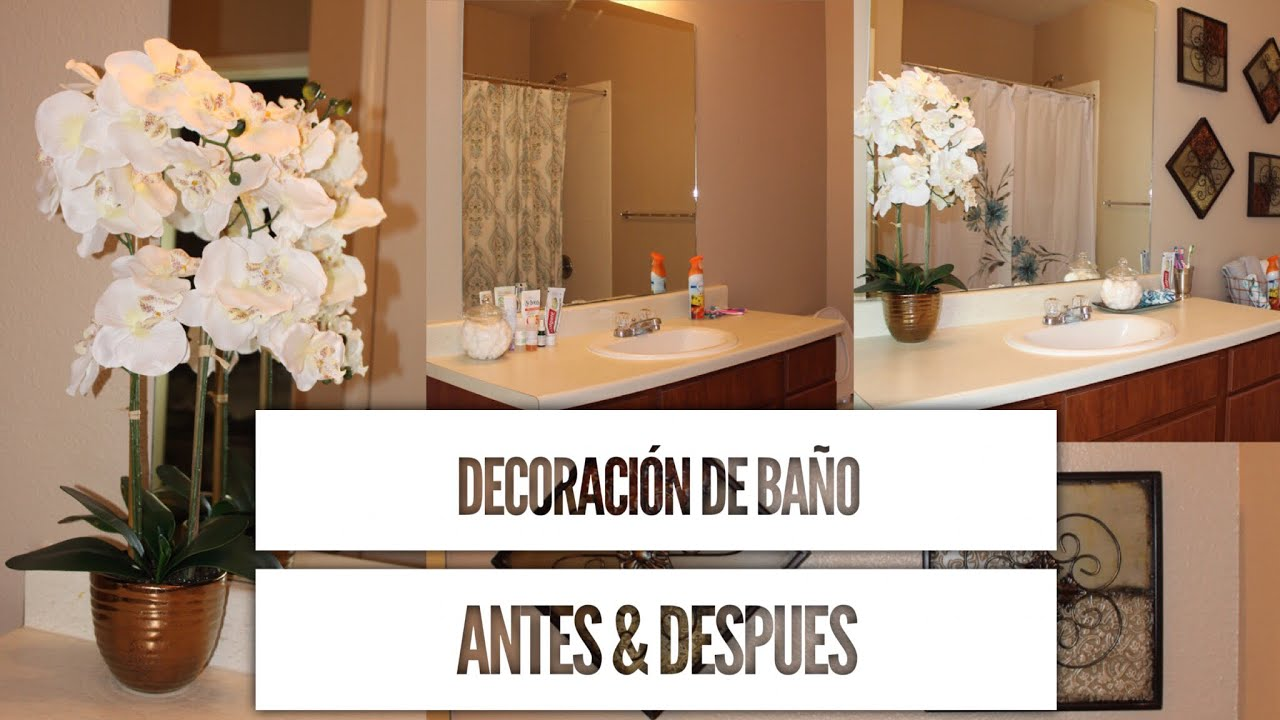 Ideas para decorar tu ba o elegante con poco dinero ivonnediazmakeup youtube - Ideas para decorar banos ...