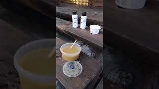 Обновление лестницы террасным маслом Borma