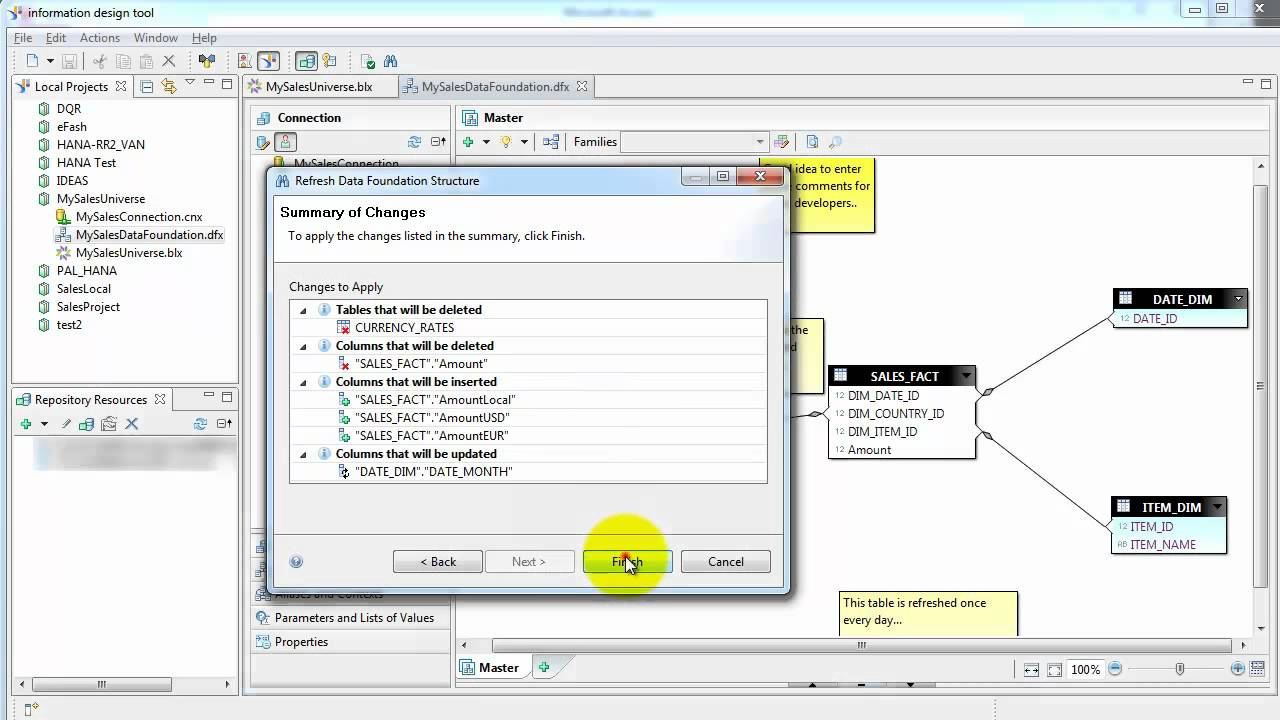 SAP Business Objects Information Design Tool Tutorial (For ...