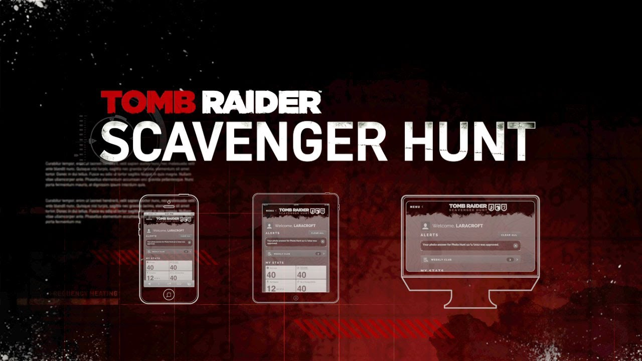 Tomb Raider Scavenger Hunt Trailer
