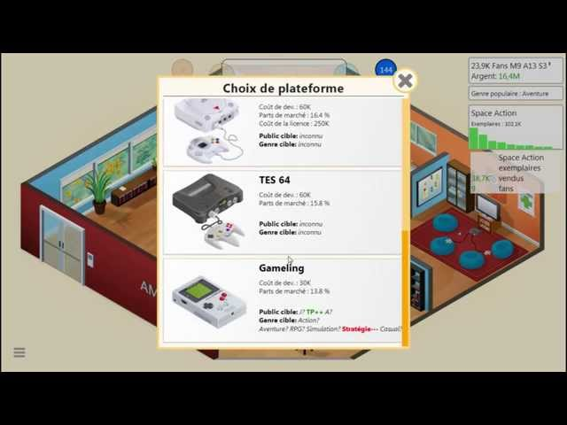 Sans Commentaire: Game Dev Tycoon Partie 7.1 1080P/60FPS
