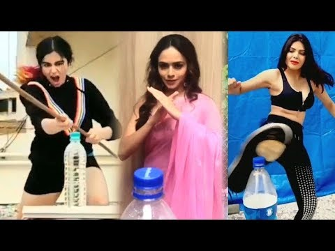 Bollywood Actress Funny Moment For Bottle Cap Challenge Compilation Video