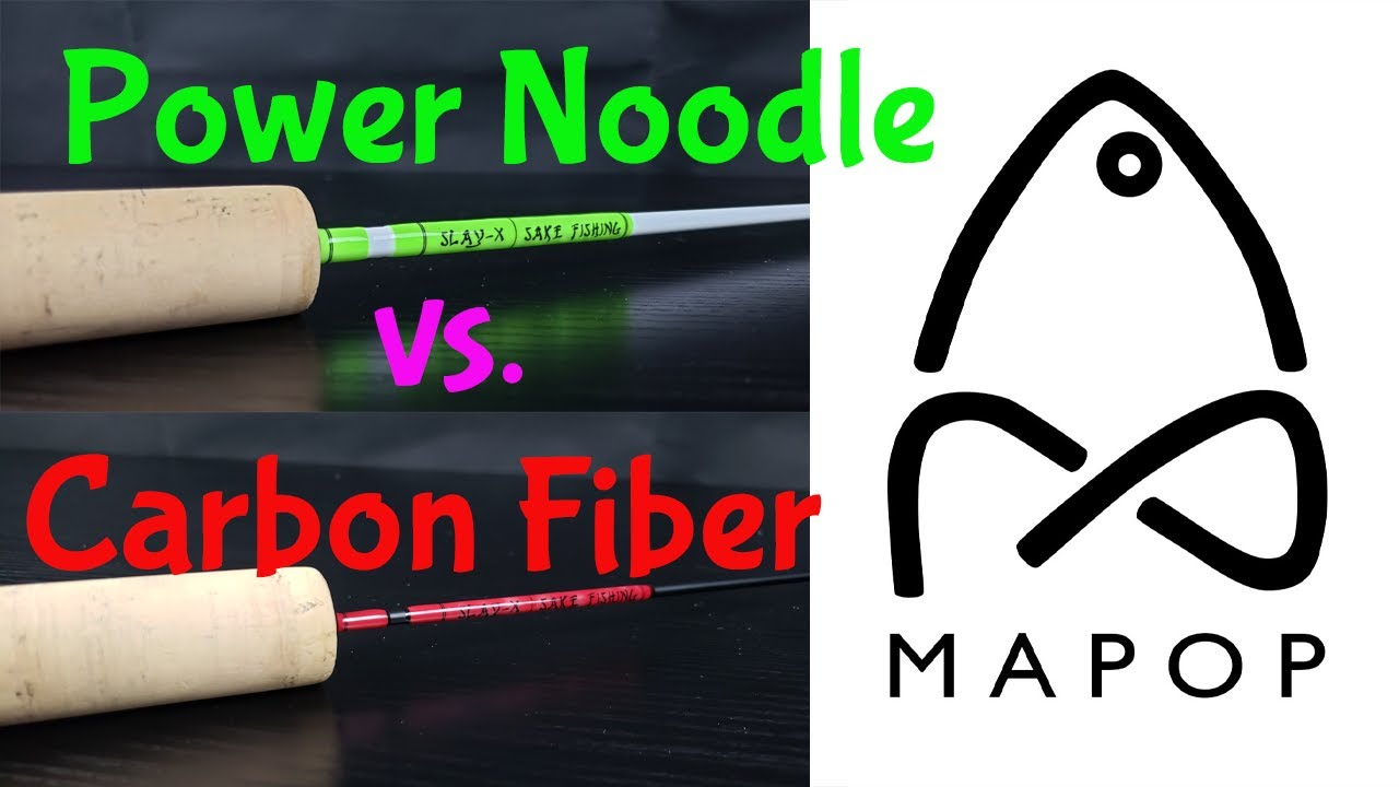 Custom Ice Fishing Rods -Power Noodle vs. Carbon Fiber Ice Rods - Slay-X Line by Sake Fishing