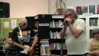 Scarbelly Blues Band Feat Brendan Hawthorne at Gt Bridge Library open mic 17.5.18
