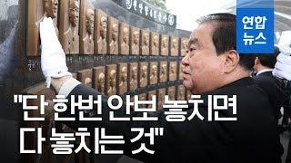 문 의장, 평택 해군 2함대사령부 방문…천안함 용사 참배 / 연합뉴스 (Yonhapnews)