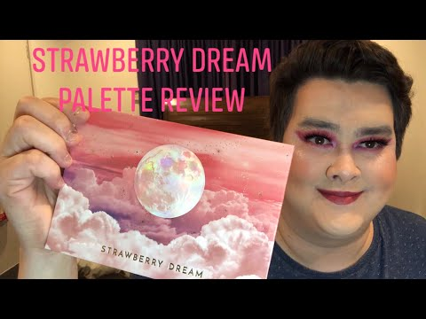 Manny Mua lunar beauty strawberry dream eye shadow palette swatch and review video. thumbnail