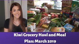 Grocery Haul and Meal Plan: Auckland, New Zealand - March 2019
