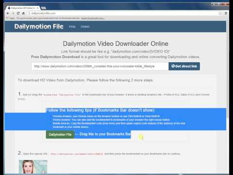 How to download dailymotion.com HD video using Chrome Browser