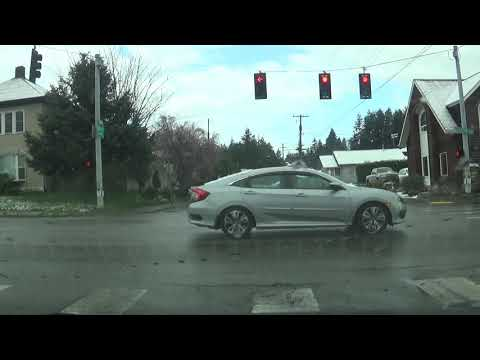 Driving to Walmart in Coos Bay from near Fred Meyers; Oregon