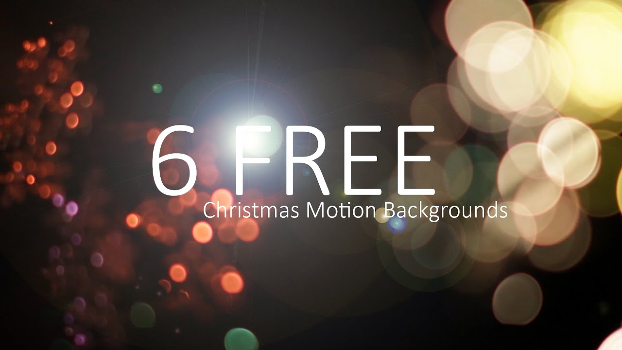 6 free christmas motion backgrounds