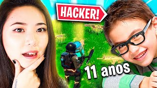 I PLAYED WITH 11-YEAR-OLD HACKER CHILD?? -FORTNITE