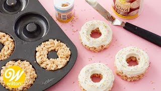 How to Make Easy Rice Cereal Treat Donuts | Wilton