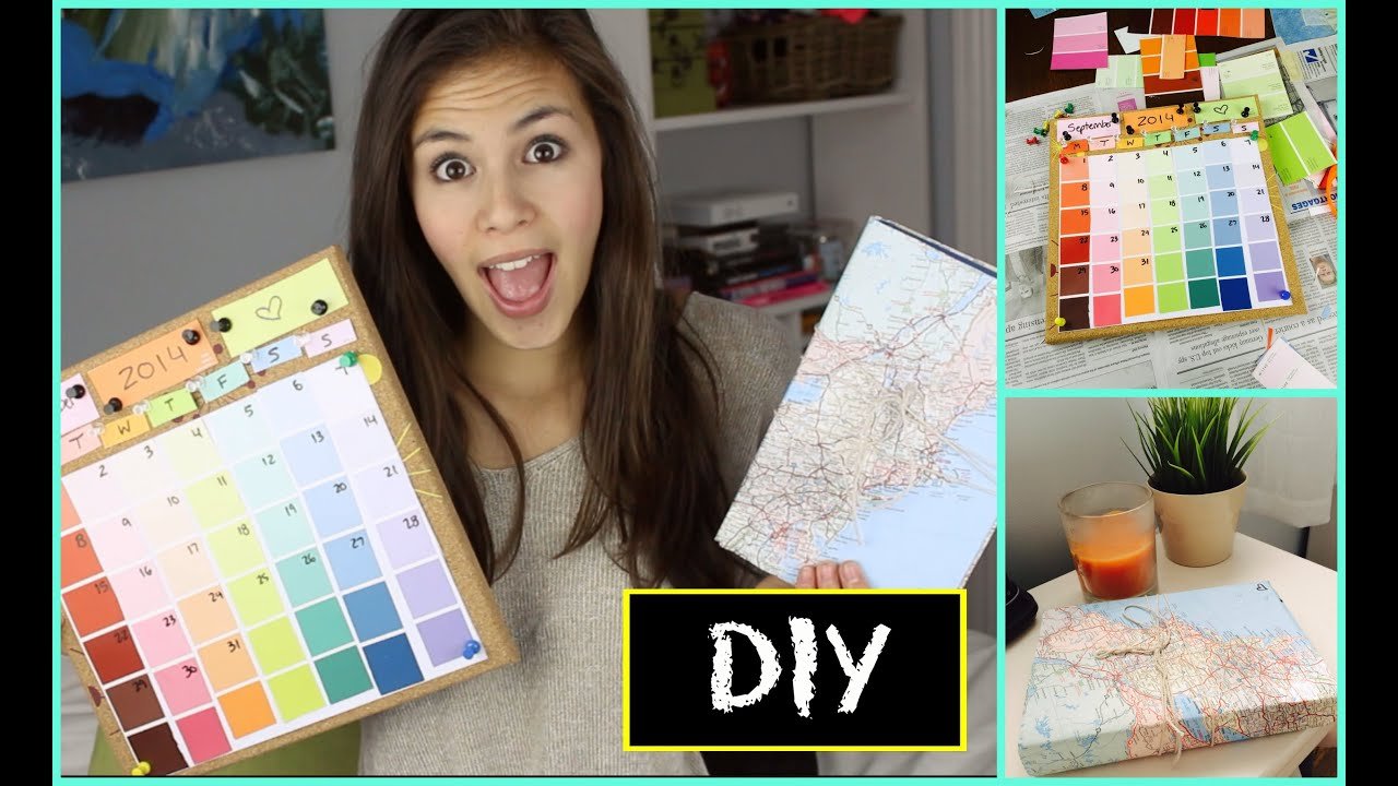 Diy Calendar For School : Back to school diy calendar book cover youtube