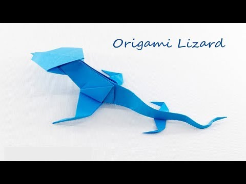 How to make origami paper Lizard?