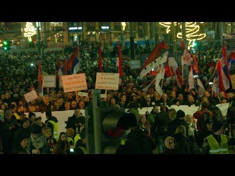 """Novi protest """"Jedan od pet miliona"""" u Beogradu: Zatražena i smena Nebojše Stefanovića (VIDEO)"""