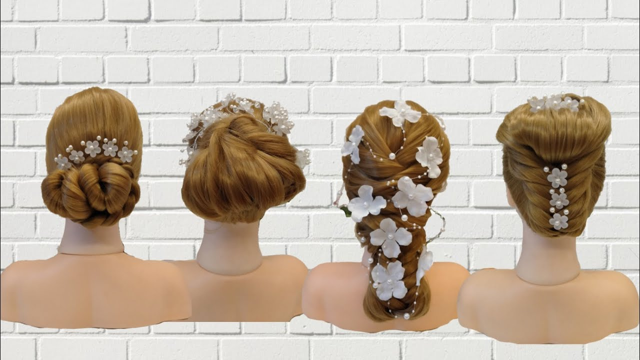 Beautiful Hairstyle For Wedding Party Function | Easy Hairstyles For Party Long Hair - YouTube