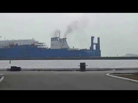 судно идет в порт Балтийск...