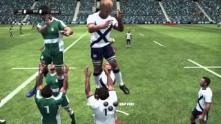 Rugby Challenge 3 Ireland vs Scotland (Full Match Custom Team Gameplay)