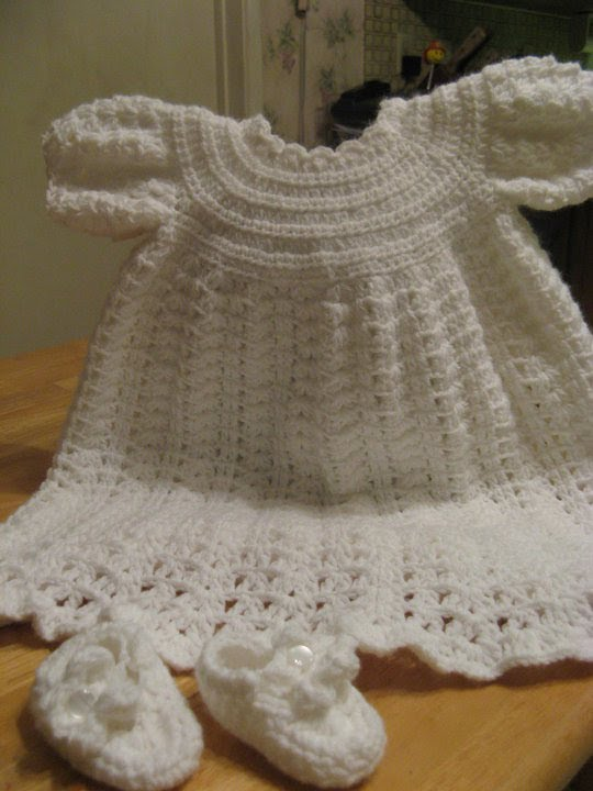 Crochet Christening Gown Video 2 Youtube