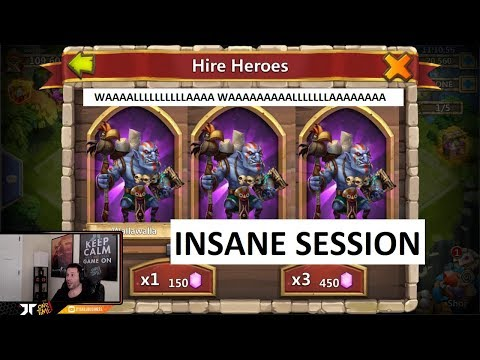 Rolling 50,000 F2P Gems LUCKY Session Hero Collector Android Castle Clash