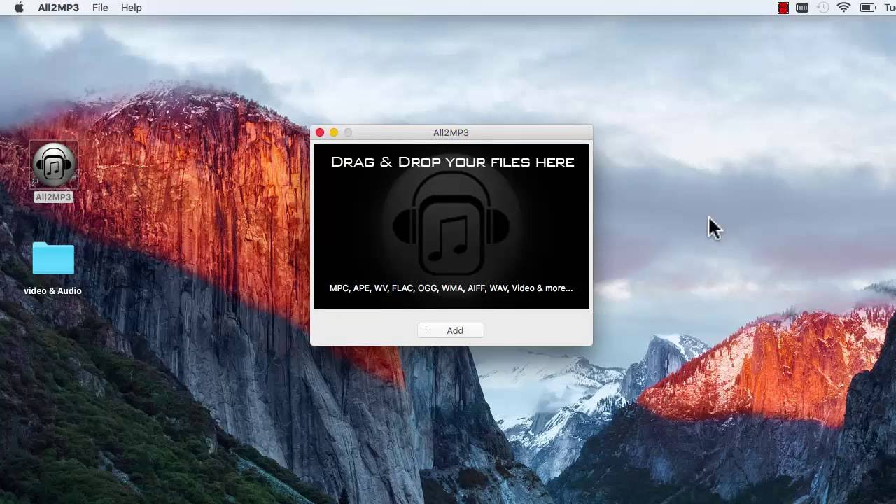 Mac - How to Convert MP4 to MP3 with All2MP3 for Mac