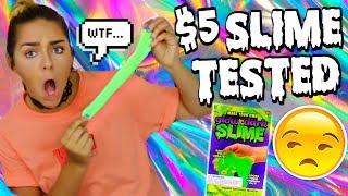 $5 Slime Kit TESTED! GLOW IN THE DARK Slime Kit! CRAZY GOOEY SLIME!