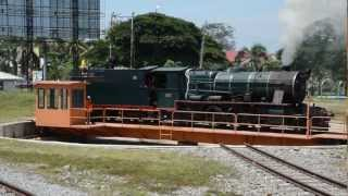 Steam locomotive in North Borneo Railway サバ州鉄道(北ボルネオ鉄道)の蒸気機関車
