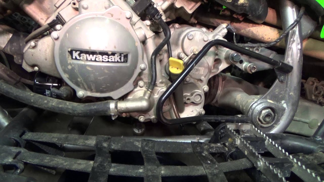Kawasaki Kfx 700 Draining The Oil Youtube