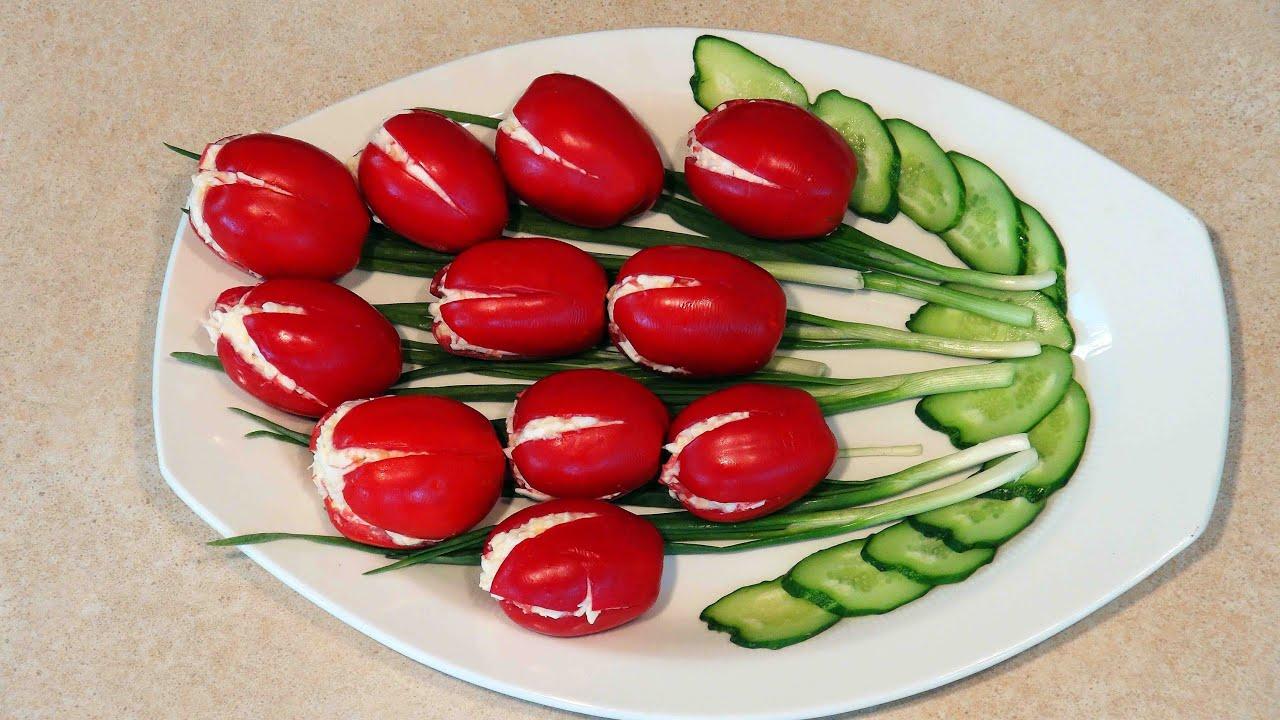 Оригинальные рецепты салатов. Салат Тюльпан. - YouTube